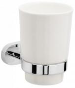 Подробнее о Стакан Raiber R50102 подвесной хром /керамика белая