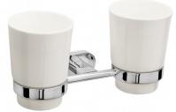 Подробнее о Стакан Raiber R50103 подвесной двойной хром /керамика белая