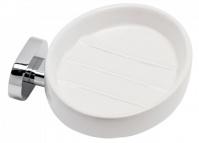 Подробнее о Мыльница Raiber R50104 подвесная хром /керамика белая
