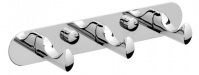 Подробнее о Вешалка с крючками Raiber R50118 на планке (3 шт.) хром