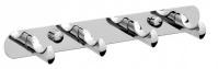 Подробнее о Вешалка с крючками Raiber R50119 на планке (4 шт.) хром