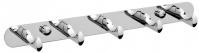 Подробнее о Вешалка с крючками Raiber R50120 на планке (5 шт.) хром