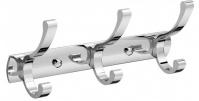 Подробнее о Вешалка с крючками Raiber R60101 на планке (3 шт.) хром