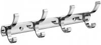 Подробнее о Вешалка с крючками Raiber R60102 на планке (4 шт.) хром