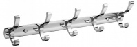Подробнее о Вешалка с крючками Raiber R60103 на планке (5 шт.) хром