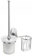 Подробнее о Ершик для туалета Raiber R70118 подвесной с держателем освежителя хром/стекло матовое