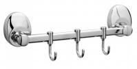Подробнее о Вешалка с крючками Raiber R70122 на планке (3 шт.) хром