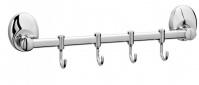 Подробнее о Вешалка с крючками Raiber R70123 на планке (4 шт.) хром