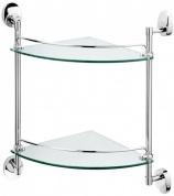 Подробнее о Полка Raiber R70128 стеклянная двойная хром/стекло матовое