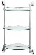 Подробнее о Полка Raiber R70129 стеклянная тройная хром/стекло матовое