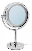 Подробнее о Зеркало косметическое Raiber RMM-1114 настольное с подсветкой хром