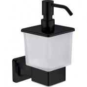 Подробнее о Дозатор жидкого мыла Rose RG15H RG1544H подвесной черный/стекло матовое