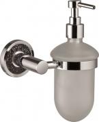 Подробнее о Дозатор жидкого мыла Sanibano Ebano H2014/11 Black подвесной хром /стекло матовое / Swarovski