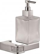 Подробнее о Дозатор жидкого мыла Sanibano Diamond H9000/11 подвесной хром /стекло матовое / Swarovski
