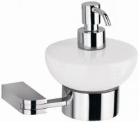 Подробнее о Дозатор жидкого мыла Schein Allom 222DB-R настенный `сфера` хром /керамика белая