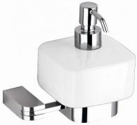 Подробнее о Дозатор жидкого мыла Schein Allom 222DS-R настенный `куб` хром /керамика белая