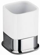 Подробнее о Стакан Schein Allom 223CS-T настольный хром /керамика белая