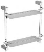 Подробнее о Полка стеклянная Schein Durer 2612 с ограничителем 38,6 х 40 см хром /стекло прозрачное