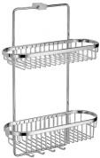 Подробнее о Полка-решетка Schein Swing 32005 двойная 35 х h50,5 х 15,5 см хром