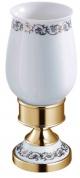 Подробнее о Стакан Schein Saine Gold 7053013VF настольный золото /керамика белая