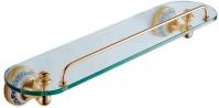 Подробнее о Полка стеклянная Schein Saine Gold 7053145VF с ограничителем золото /стекло прозрачное