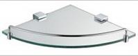 Подробнее о Полка стеклянная Schein Elite 7057048 угловая с ограничителем хром /стекло прозрачное