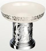 Подробнее о Мыльница Schein Carving 7065007 настольная хром /керамика белая