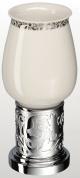 Подробнее о Стакан Schein Carving 7065013 настольный хром /керамика белая