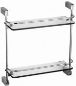Подробнее о Полка стеклянная Schein Allom NL2212 с ограничителем 37,2 х 40 см хром /стекло прозрачное