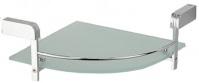 Подробнее о Полка стеклянная Schein Allom 2212B1 угловая 31,3 х 21,4 х h6,9 см хром /стекло прозрачное