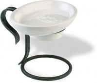 Подробнее о Мыльница StilHaus Flora F 09ap керамика белая / античная черная тоскана