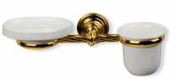 Подробнее о Стакан с мыльницей StilHaus Giunone G 14 DO настенные на держателе золото