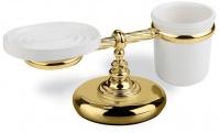 Подробнее о Стакан с мыльницей StilHaus Giunone G 15m DO настольные на держателе золото