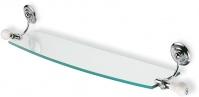 Подробнее о Полка стеклянная StilHaus Nemi  N 04 длина 70 см хром / стекло / керамика белая
