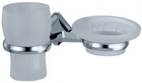 Подробнее о Стакан и мыльница Wasserkraft Aller K-1100 K-1126 подвесные хром/стекло прозрачное