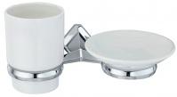 Подробнее о Стакан и мыльница Wasserkraft Aller K-1100 K-1126C подвесные хром/керамика белая