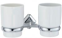 Подробнее о Стакан Wasserkraft Aller K-1100 K-1128DC подвесной двойной хром/керамика белая