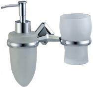 Подробнее о Стакан с дозатором мыла Wasserkraft Aller K-1100 K-1189 подвесные хром/стекло матовое