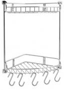 Подробнее о Полка-решетка Wasserkraft K-1222 угловая h34,2 см (3 яруса) хром