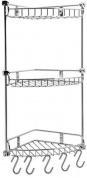 Подробнее о Полка-решетка Wasserkraft K-1233 угловая h54,2 см (3 яруса) хром
