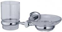 Подробнее о Стакан и мыльница Wasserkraft Oder K-3000 K-3026 подвесные хром/стекло прозрачное