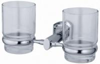 Подробнее о Стакан Wasserkraft Oder K-3000 K-3028D подвесной двойной хром/стекло матовое