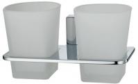 Подробнее о Стакан Wasserkraft Leine K-5000 K-5028D подвесной двойной хром/стекло матовое
