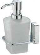 Подробнее о Дозатор для мыла Wasserkraft Leine K-5000 K-5099 подвесной хром/стекло матовое