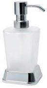 Подробнее о Дозатор для мыла Wasserkraft Amper K-5400 K-5499 настольный хром/стекло матовое