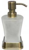 Подробнее о Дозатор для мыла Wasserkraft Exter K-5500 K-5599 настольный бронза светлая/стекло матовое