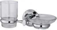 Подробнее о Стакан и мыльница Wasserkraft Rhein K-6200 K-6226 подвесные хром/стекло прозрачное