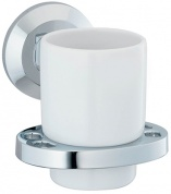 Подробнее о Стакан Wasserkraft Rhein K-6200  K-6228C подвесной хром/керамика белая
