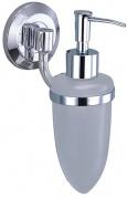 Подробнее о Дозатор для мыла Wasserkraft Rhein K-6200 K-6299 подвесной хром/стекло матовое