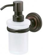 Подробнее о Дозатор для мыла Wasserkraft Isar K-7300 K-7399 подвесной бронза/стекло матовое